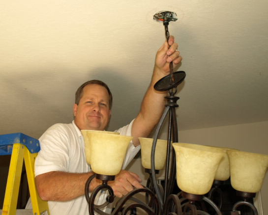 Lake Sherwood Lighting Electrical Contractor Hanging Chandelier