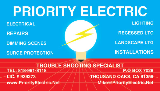 Lake Sherwood Lighting Business Card